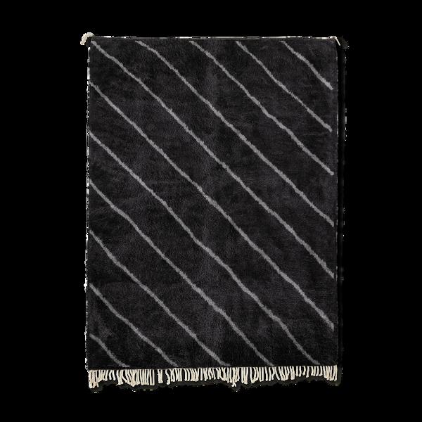 Tapis marocain moderne noir art contemporain 240x340cm