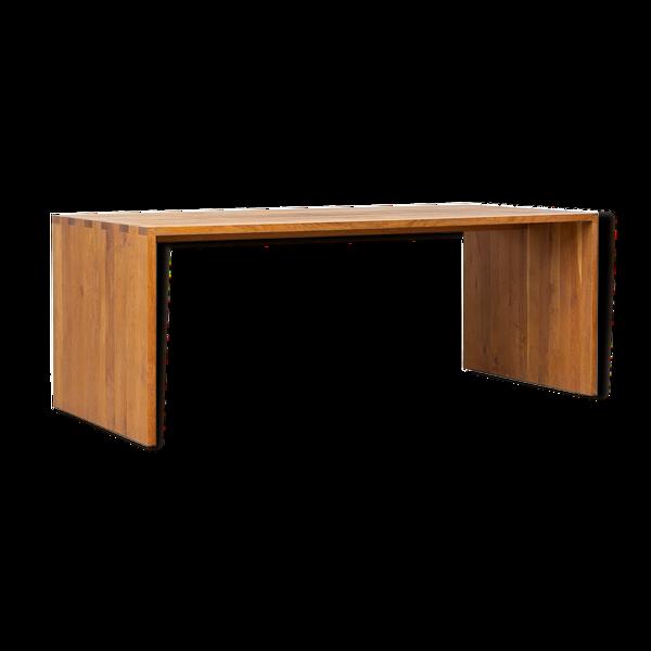 Table à manger rectangulaire moderniste en chêne 1970