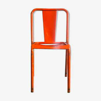 Chaise bistrot orange rouge