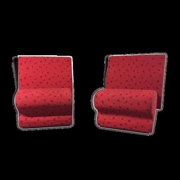 Paire de fauteuils vintage par Albert jacob pour Giroflex 1980