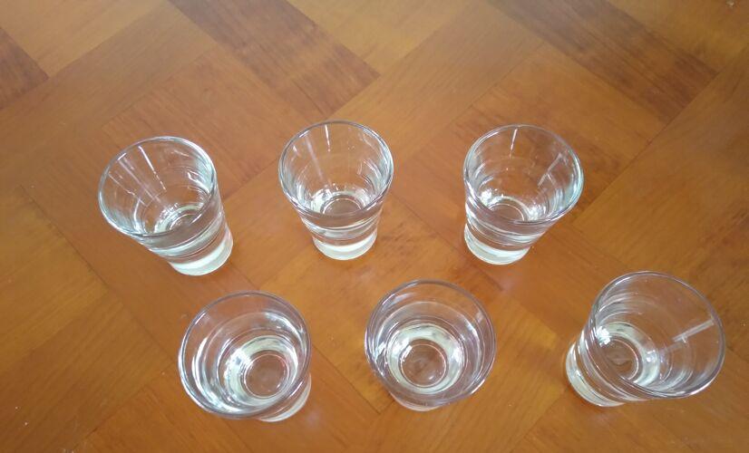Set de 6 verres a digestif