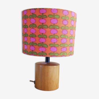 Lampe de chevet vintage bois et tissu