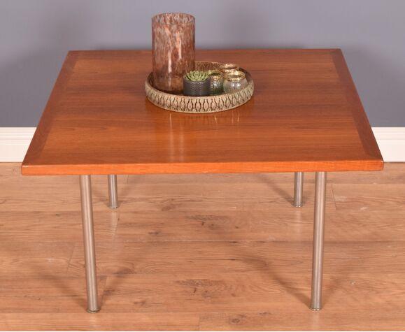 Restored teak & rosewood , chrome coffee table, Hans J Wegner, andreas tuck