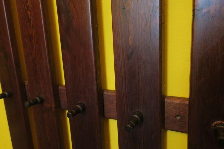 Mid century wall mounted coat rack 1960s