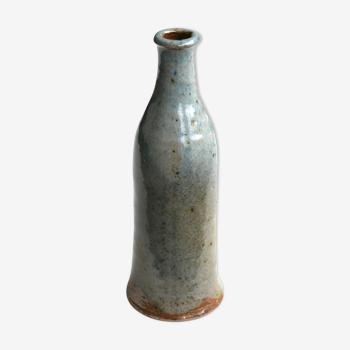 Vase bouteille en grès de Gustave Tiffoche, années 60