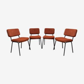 Série de 4 chaises André Simard 1960