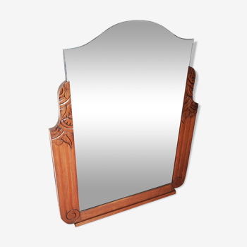 Wall Mirror With Wooden Frame 19x23cm Selency