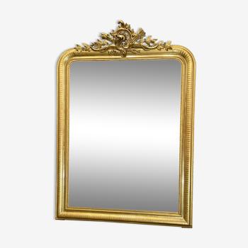 Miroir 156x110 ancien louis philippe dorure feuille d'or