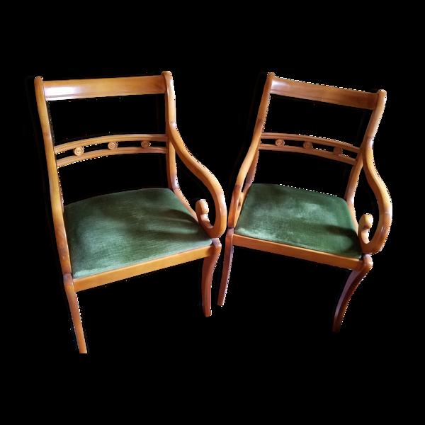 Paire de fauteuils néo-classique