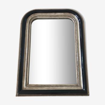 Miroir Louis Philippe crème et noir