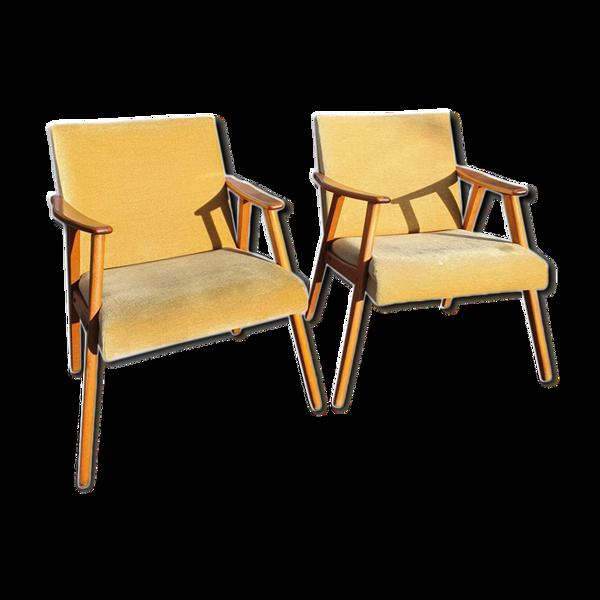 Ensemble de deux fauteuils vintage, années 1960