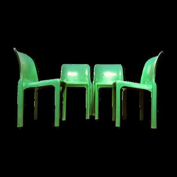 Ensemble de 4 chaises Selene conçues par Vico Magistretti pour Artemide, années 1960