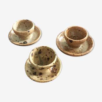 Set 3 sandstone coquetiers