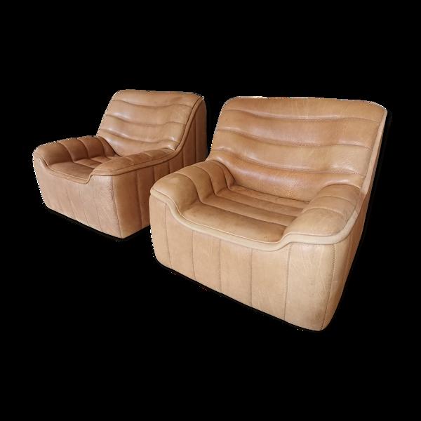 Paire de fauteuils De Sede DS84