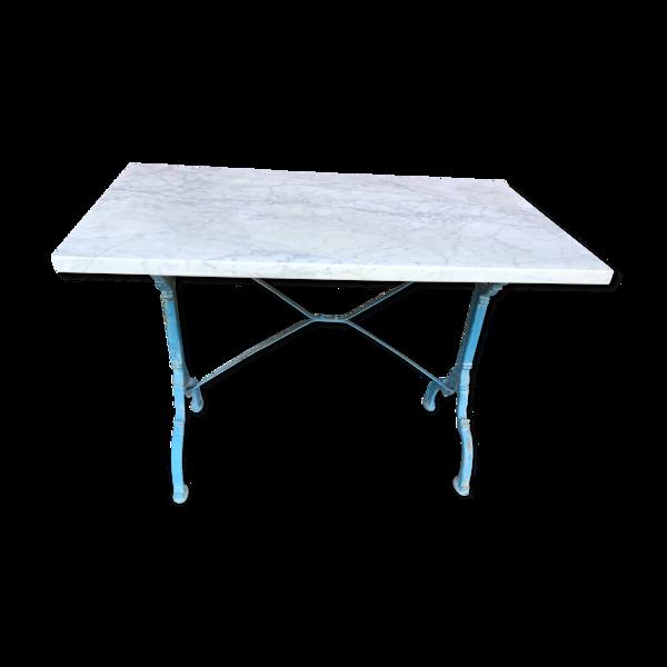 Table de bistrot en marbre de carrare poli