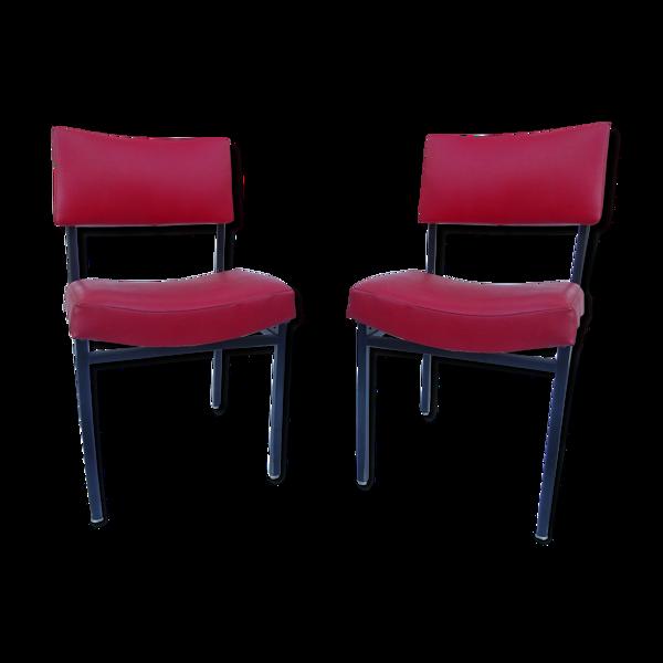 Paire de fauteuils chauffeuses vintage