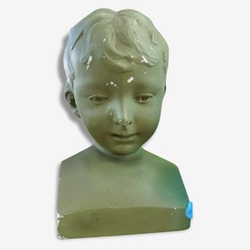 Buste en plâtre enfant Art déco / Magic'Puce