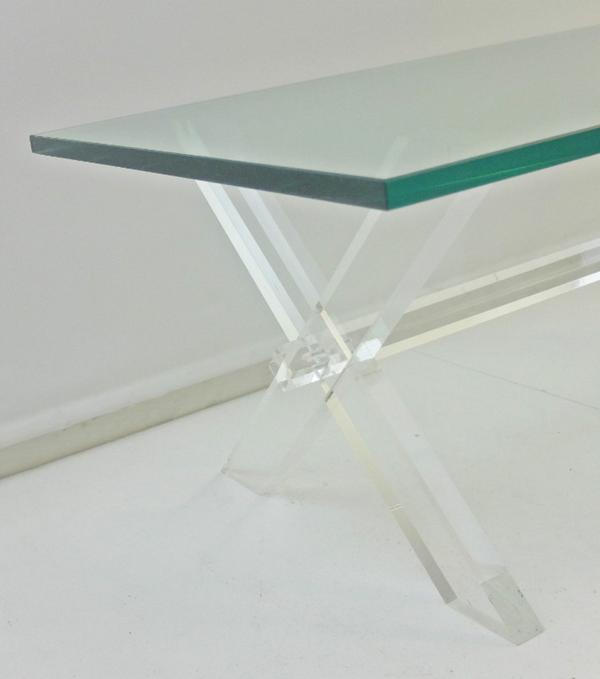 Table basse Plexiglas et verre