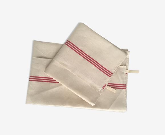 Deux torchons anciens lin et coton