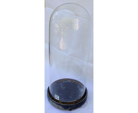 Antique globe en verre rond 41 cm haute 16 cm diamètre