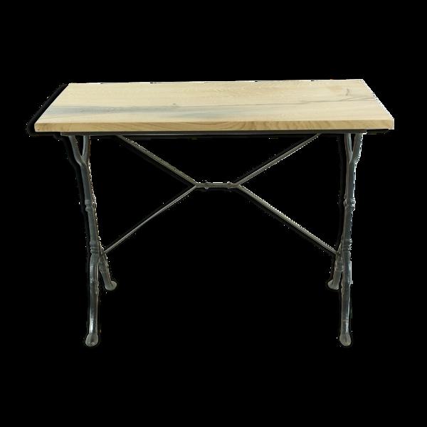 Table d'appoint en chêne vintage foncé ca 1900