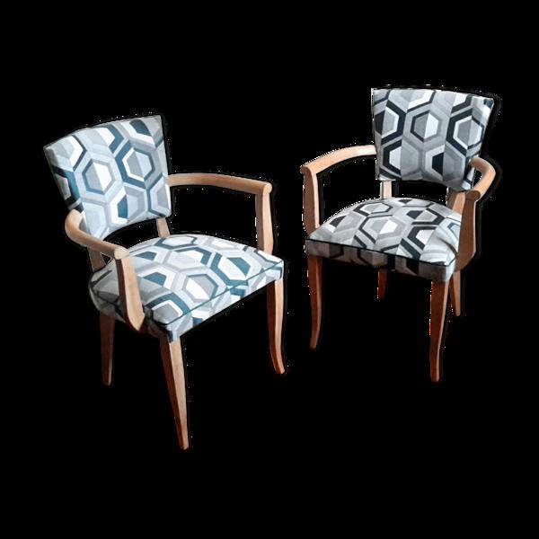 Selency Paire de fauteuils bridge