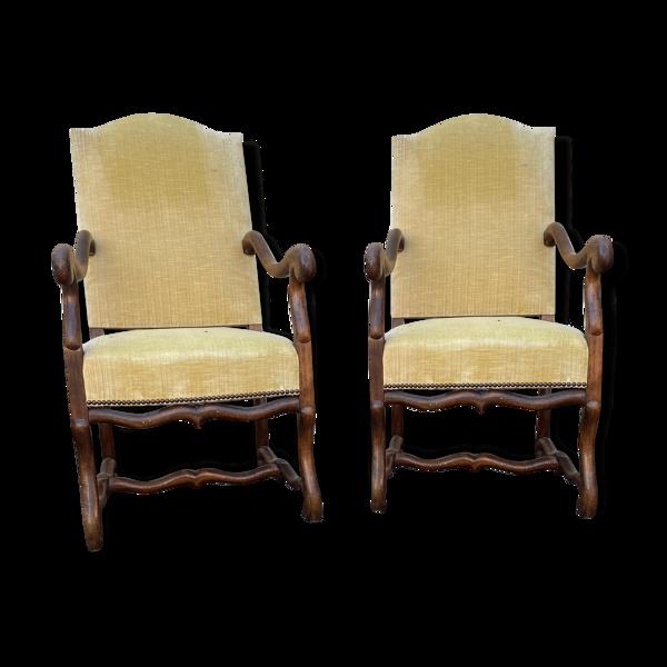 Paires de fauteuils à crosse