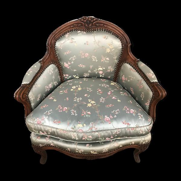 Fauteuil bergère Louis XV ancienne
