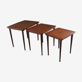 Rio rosewood trundle tables of Scandinavian origin