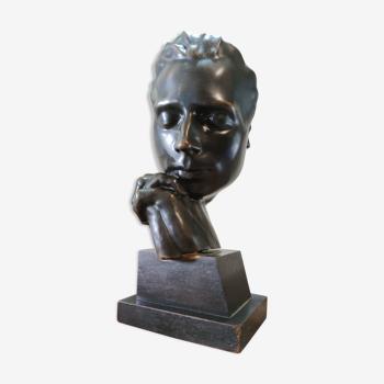 Sculpture bronze de Eugène Bourgoin, 1920