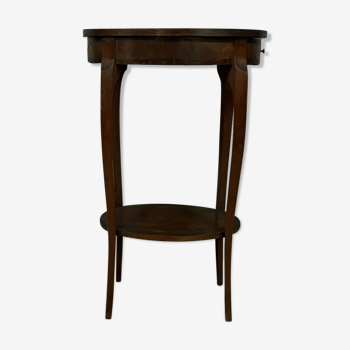 Table d'apparat Louis XV en marquèterie vers 1880