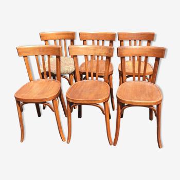 Série de 6 chaises estampillées Baumann
