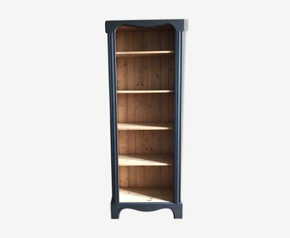 Bibliothèque en bois et noir
