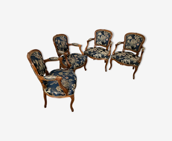 4 fauteuils style Louis XV