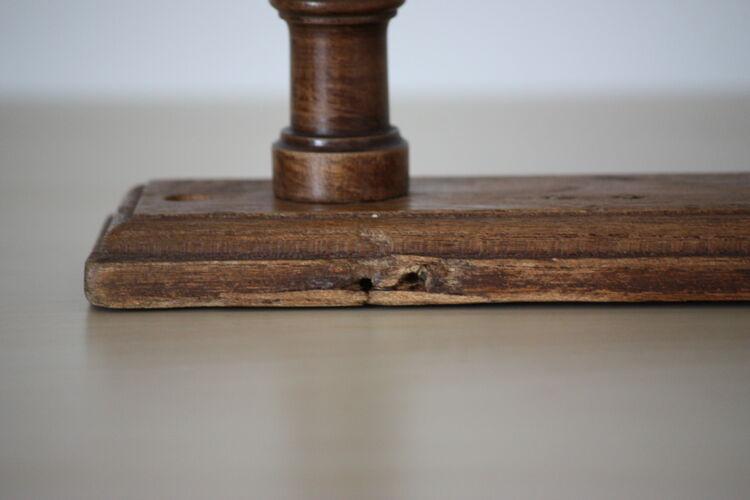 Porte manteau en bois tourné