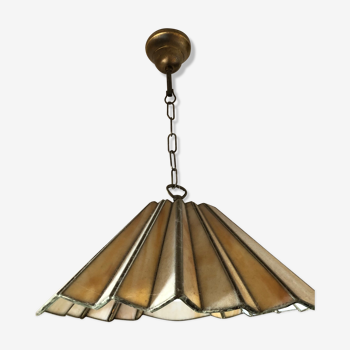 Glass paste ceiling light