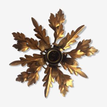 """Applique """"florentiner"""" en métal doré, années 70"""