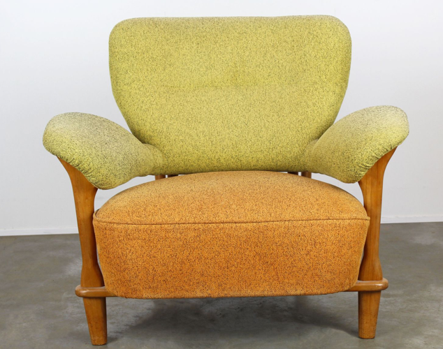 Mobilier de salon F109 avec fauteuil et canapé assorti par Theo Ruth pour Artifort 1950
