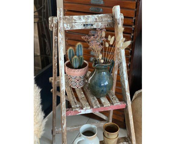 Escabeau bois vintage