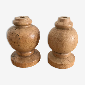 Wooden candlestick or lamp foot