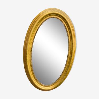 Miroir ovale doré 96x58cm
