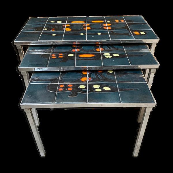 Selency Tables gigognes des années 60