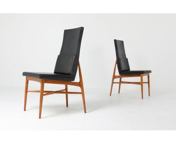 """Chaises de salle à manger """"Madison"""" de De Coene en noyer - années 1960"""