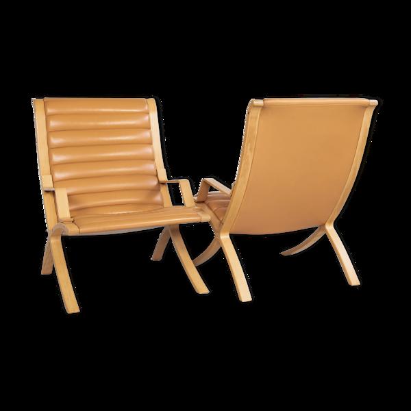 Selency Paire de fauteuils AX par Hvidt & Molgaard pour Fritz Hansen