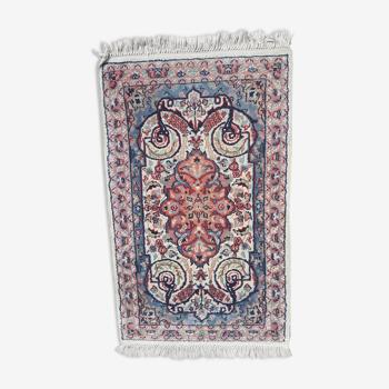 Tapis iranien soie fait main 76x131cm