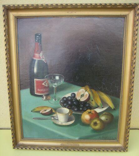 Anciènne peinture nature morte aux fruits