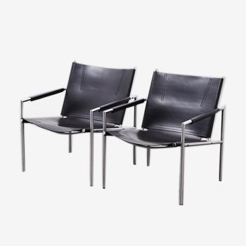 Paire de fauteuils SZ02 de Martin Visser pour 't Spectrum 1965