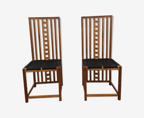 paire de chaises à dossier haut