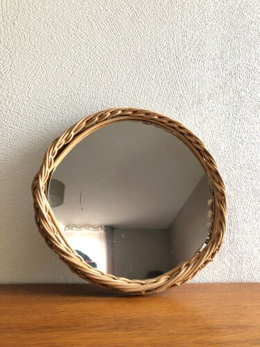 Miroir en rotin tressé 23cm
