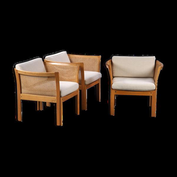 Set de 3 fauteuils plexus par Illum Vikkelso pour CFC Silkeborg 1970